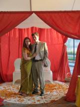 D. and I under the Mandap
